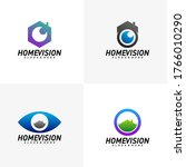 set of home vision creative... | Shutterstock .eps vector #1766010290
