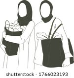 Hijab Woman Shopping Or Buying...