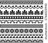 greek key pattern  waves and... | Shutterstock .eps vector #1766023940