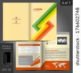 vector brochure template design ... | Shutterstock .eps vector #176602748