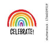 celebrate. hand draw lgbt pride ...   Shutterstock .eps vector #1766039519
