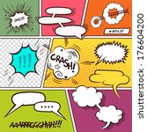 retro comic speech bubbles  ... | Shutterstock .eps vector #176604200