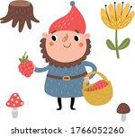 gnome cute children's vector...   Shutterstock .eps vector #1766052260