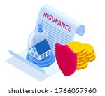 insurance house and capital ... | Shutterstock .eps vector #1766057960