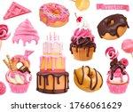 sweets 3d vector realistic... | Shutterstock .eps vector #1766061629