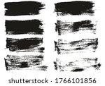 flat paint brush thin short...   Shutterstock .eps vector #1766101856