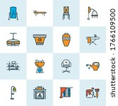 decor icons colored line set...   Shutterstock .eps vector #1766109500
