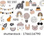 vector hand drawn baby...   Shutterstock .eps vector #1766116790