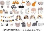 vector hand drawn baby... | Shutterstock .eps vector #1766116793