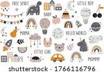 vector hand drawn baby... | Shutterstock .eps vector #1766116796