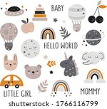 vector hand drawn baby...   Shutterstock .eps vector #1766116799