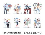 office people with a lot of... | Shutterstock .eps vector #1766118740