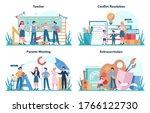 teacher concept set. profesor... | Shutterstock .eps vector #1766122730