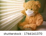 Teddy Bear Wearing A Face Mask  ...