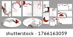 black white red colors poster...   Shutterstock .eps vector #1766163059