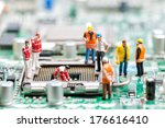 team of engineers repairing... | Shutterstock . vector #176616410