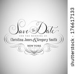 wedding invitation card with... | Shutterstock .eps vector #176617133
