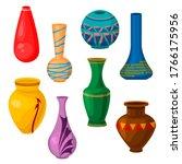 cartoon color ceramic vase icon ...   Shutterstock .eps vector #1766175956