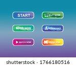 set of modern style buttons ... | Shutterstock .eps vector #1766180516