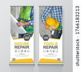 construction tools and flat... | Shutterstock .eps vector #1766183213