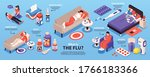 isometric cold flu virus sick...   Shutterstock .eps vector #1766183366