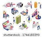 accounting process isometric...   Shutterstock .eps vector #1766183393