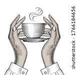 woman's hands holding a coffee... | Shutterstock .eps vector #1766184656