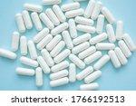 Health Concept. White Capsule...