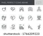 heart attack vector line icons. ... | Shutterstock .eps vector #1766209223