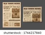 old newspaper. vintage magazine ... | Shutterstock .eps vector #1766217860