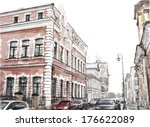 watercolor illustration of city ... | Shutterstock .eps vector #176622089
