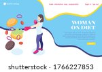 woman on diet isometric web...