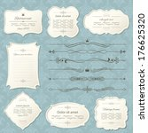 vintage frame and page... | Shutterstock .eps vector #176625320