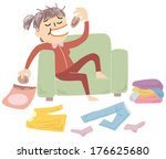 woman scruffy | Shutterstock .eps vector #176625680