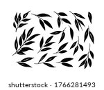 brush branches with long leaves ... | Shutterstock .eps vector #1766281493