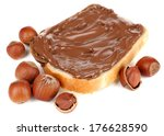 bread with sweet chocolate... | Shutterstock . vector #176628590