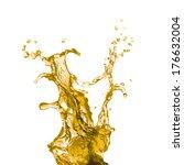 yellow juice  | Shutterstock . vector #176632004