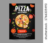 pizza flyer design template... | Shutterstock .eps vector #1766335493