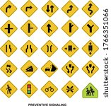 collection of warning signs for ... | Shutterstock .eps vector #1766351066