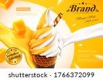 mango and milk double flavor... | Shutterstock .eps vector #1766372099