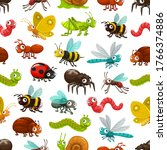 cartoon insects and bugs vector ... | Shutterstock .eps vector #1766374886