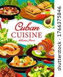 cuban cuisine vector poster....   Shutterstock .eps vector #1766375846
