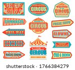 circus pointers and arrow... | Shutterstock .eps vector #1766384279