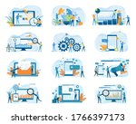 set business flat illustration...   Shutterstock .eps vector #1766397173