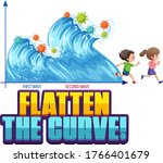 flatten the curve with second... | Shutterstock .eps vector #1766401679