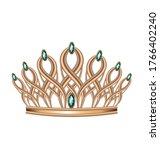 Realistic Crown  Tiara  Head...