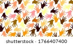 seamless pattern with palm... | Shutterstock .eps vector #1766407400