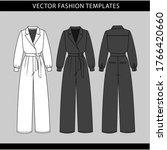 jumpsuit  fashion flat sketch... | Shutterstock .eps vector #1766420660