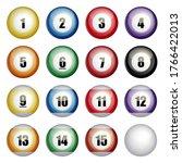 Set Of Vector Billiard Balls...