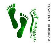 Foot Massage Concept. ...